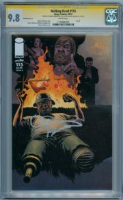 Walking Dead #115 Variant Cover G CGC 9.8 Signature Series Signed Robert Kirkman & Charlie Adlard Image comic book